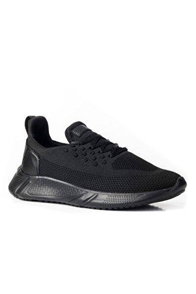 Erkek Siyah Kntorm Ekstra Hafif Bağcıklı Triko Günlük Ayakkabı 505
