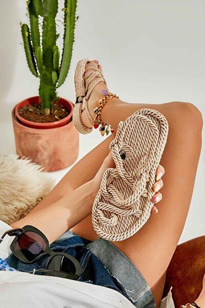 Vizon Kadın Hasır Sandalet K05787020476
