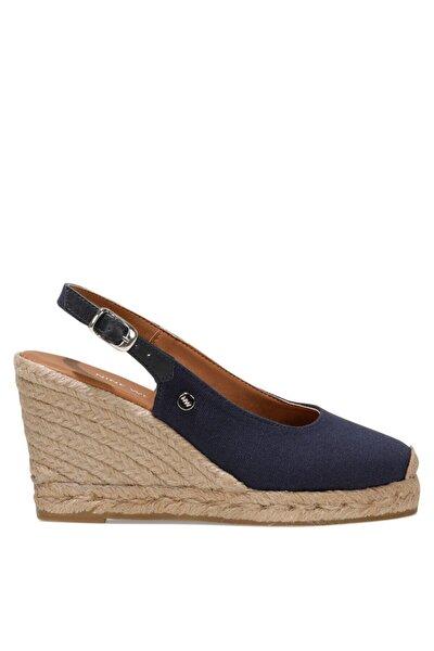 PUJICO 1FX Lacivert Kadın Dolgu Topuklu Sandalet 101030690