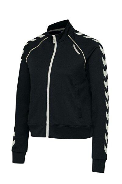 Kadın Zıba Kısa Fermuarlı Siyah Sweatshirt 207969-2001