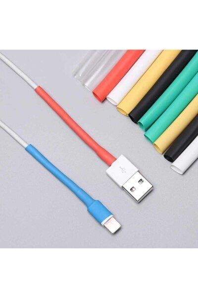 Iphone Şarj Kablo Koruyucu Renkli 12 Adet Isıyla Daralan Makaron Orijinal Apple Lightning