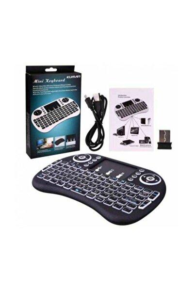 Işıklı Mini Klavye Mouse Smart Tv Box Pc Şarjlı Pg-8035
