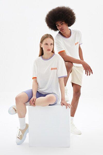 Beyaz Unisex Regular Fit T-Shirt TMNSS21TS3372