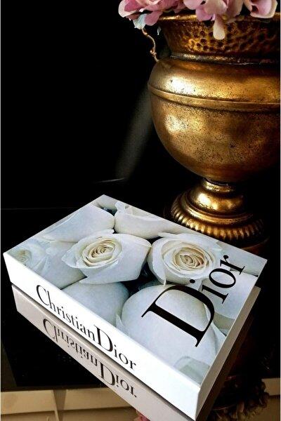 Beyaz Dekoratif Christian Dior Kitap Görünümlü Kutu