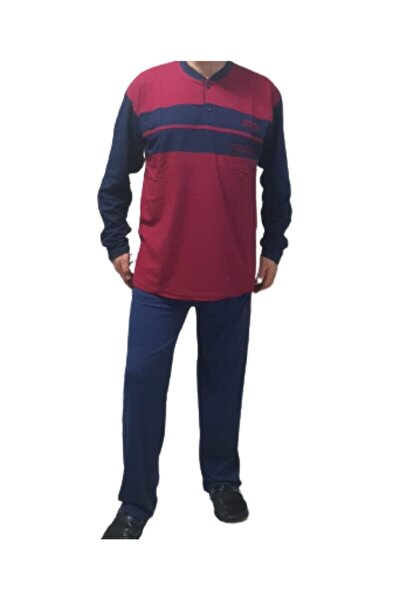 %100 Pamuklu Battal Erkek Pijama Takımı