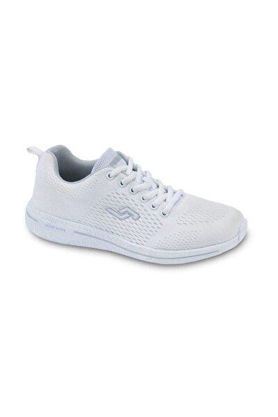 Beyaz Kadın Sneaker Fileli Spor Ayakkabı