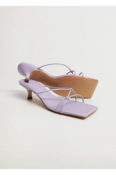Lilal Düğümlü Topuklu Sandalet