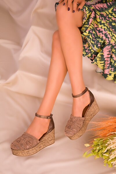 Bakır Kadın Dolgu Topuklu Ayakkabı 16041