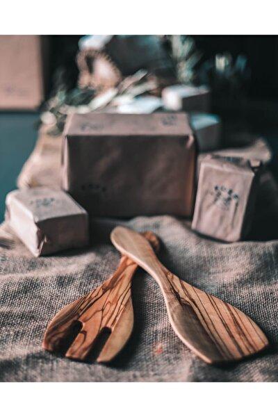El Yapımı Salata Kaşık Çatal Seti