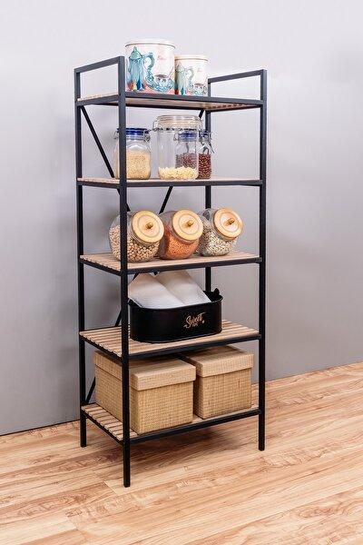Mutfak Rafı Malzeme Dolabı 5 Raflı Mikrodalga Rafı Çok Amaçlı Dolap