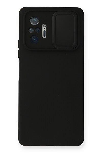 Xiaomi Redmi Note 10 Pro Uyumlu Kılıf Color Lens Soft Yüzeyli Silikon Kılıf - Siyah