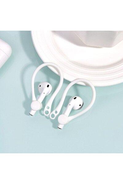Apple Airpods Uyumlu Çengeli Kulaklık Kancası Tutucu Anti-lost - Beyaz