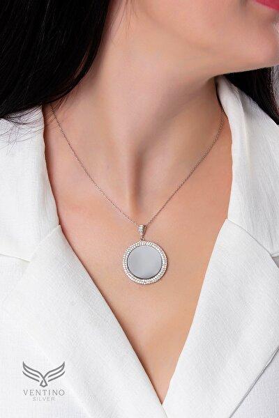 Aynalı Kadın Gümüş Kolye VKK-4427