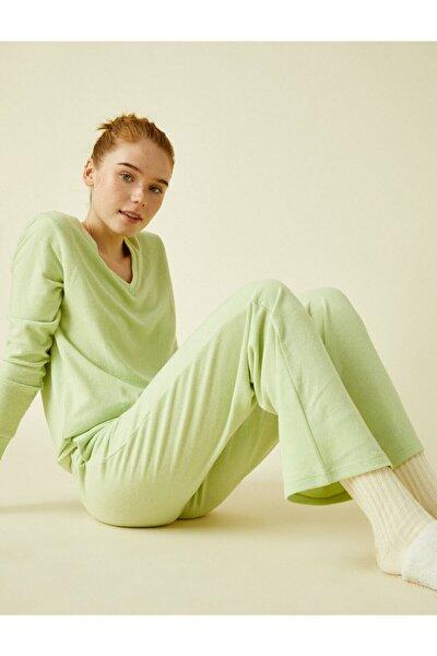 Kadın Yeşil Yumusak Esofman Alti