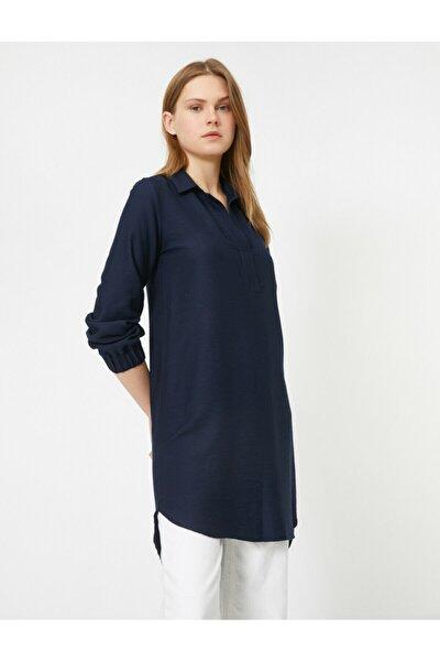Gömlek Yaka Uzun Kollu Tunik
