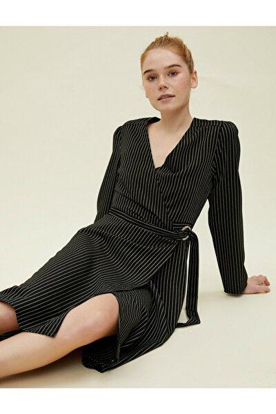 Kadın Siyah Çizgili Elbise 0KAK88764PW