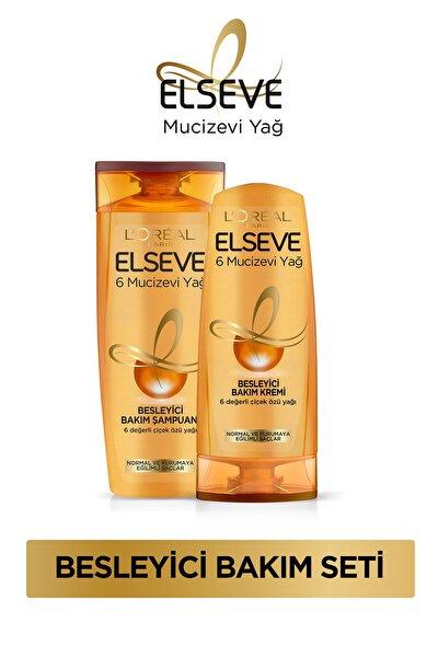 6 Mucizevi Yağ Besleyici Bakım Şampuanı 450 ml + 6 Mucizevi Yağ Besleyici Bakım Kremi 360 ml