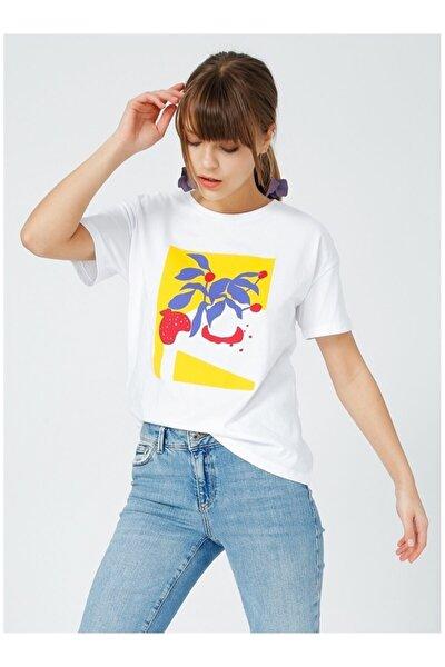 Kadın Beyaz Kısa Kol T-Shirt