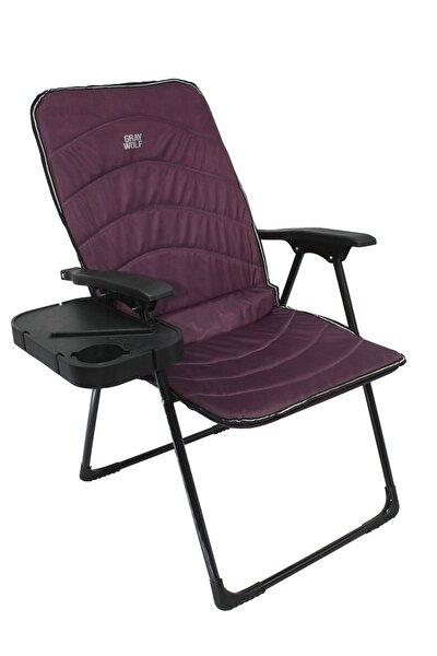 Quatro Katlanır Masalı Kamp Sandalyesi - Balıkçı Sandalyesi (vişne)