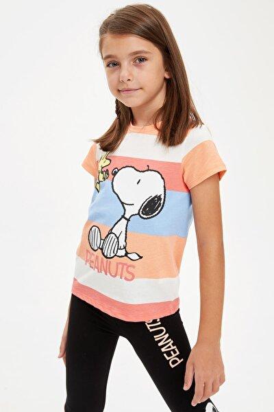 Snoopy Lisanslı Kısa Kollu T-shirt