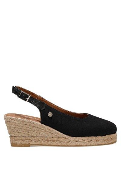 MERWILLA 1FX Siyah Kadın Dolgu Topuklu Sandalet 101027191