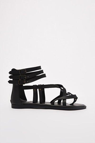 Siyah Kadın Sandalet TAKSS21SD0008