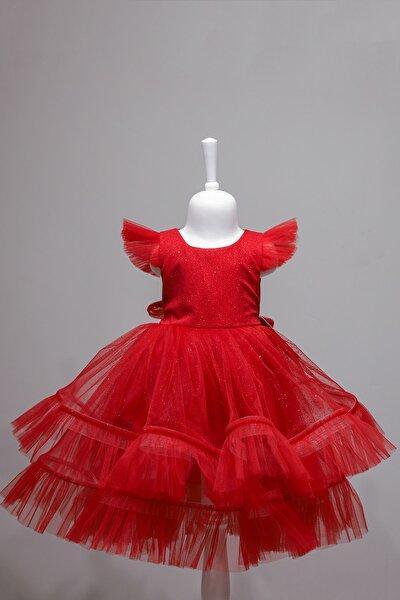 Çocuk Kırmızı Abiye Elbise