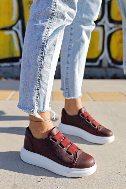 Ch253 Bt Kadın Ayakkabı Bordo