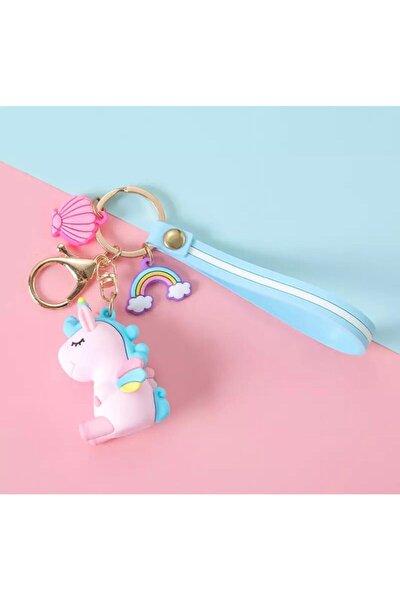 Unicorn Pembe Anahtarlık