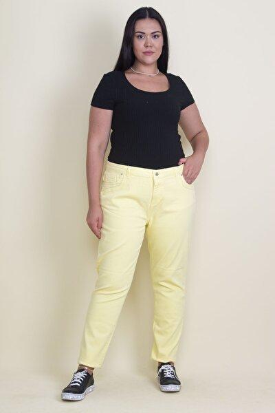 Kadın Sarı 5 Cep Likralı Kot Pantolon 65N17769