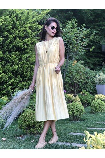Kadın Limon Sarısı Elbise