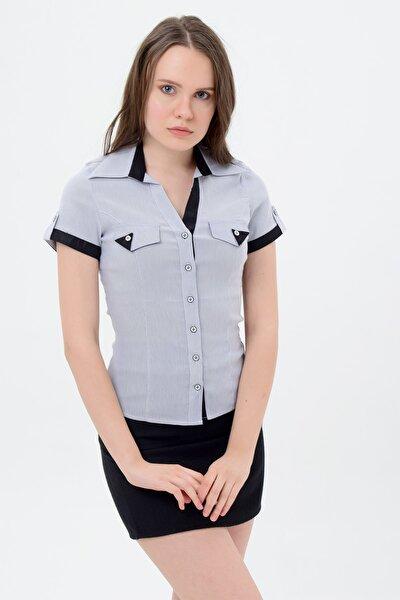 Kadın Gri Gömlek 710-2-9