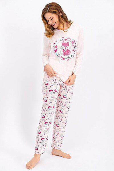 Pembemelanj Little Fox Kadın Pijama Takımı