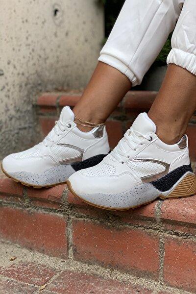 Beyaz Kadın Spor Ayakkabı Y1071