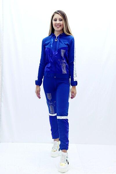 Kadın Mavi Eşofman Takım