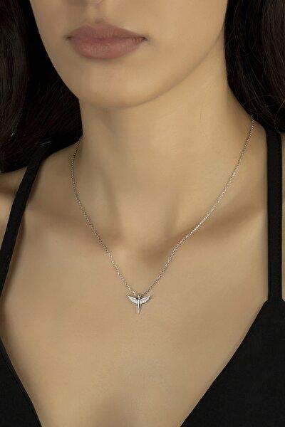 Gümüş Kolye Orijinal Swarovskı Taşlı Mikail Kılıcı Temalı Bayan Kolye