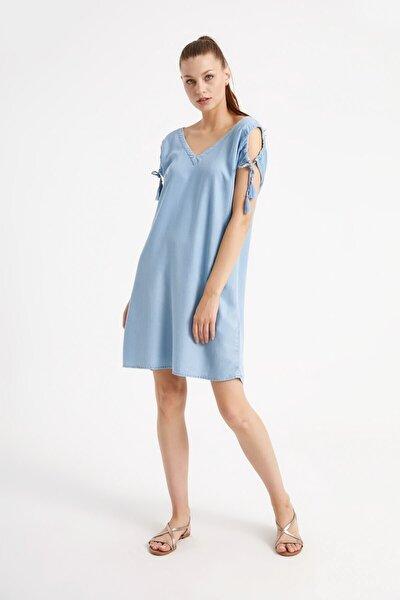 Emıly Sky Blue Elbise