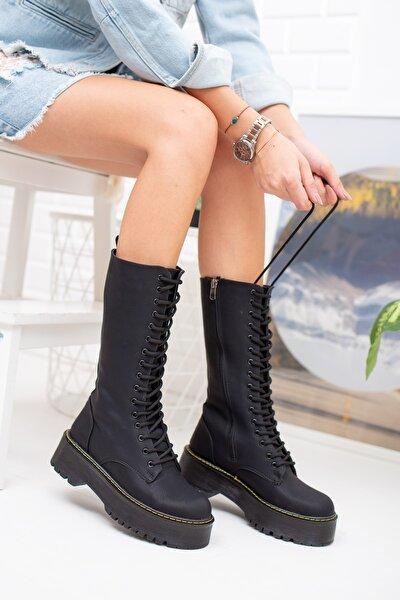 Kömür Siyah Kadın Çizme Md1025-117-0001
