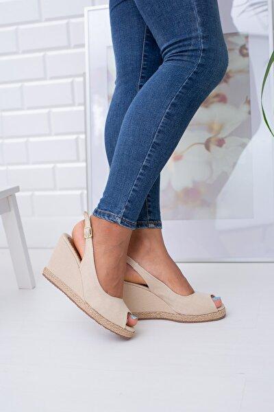 Ten Keten Kadın Dolgu Topuklu Ayakkabı Md1013-120-0001