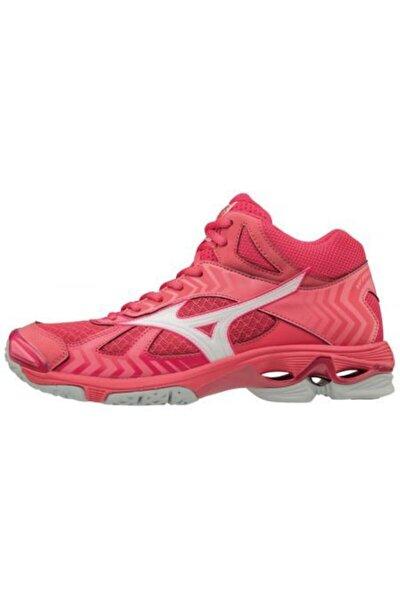 Kadın Pembe  Voleybol Ayakkabısı - 86561 Wave Bolt 7 Mid Voleybol Ayakkabısı - V1GC186561