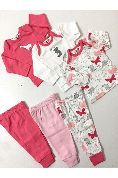 Kız Bebek Kırmızı 6 Parça Kombin Set Takım
