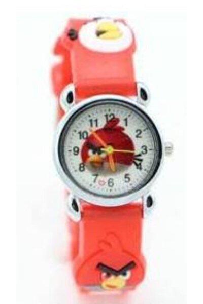 Unisex Çocuk Kırmızı Angry Bird Kol Saati