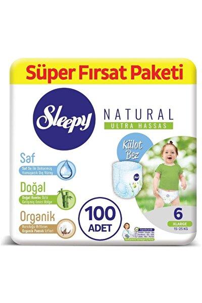 Natural Külot Bez 6 Numara Xlarge Süper Fırsat Paketi 100 Adet