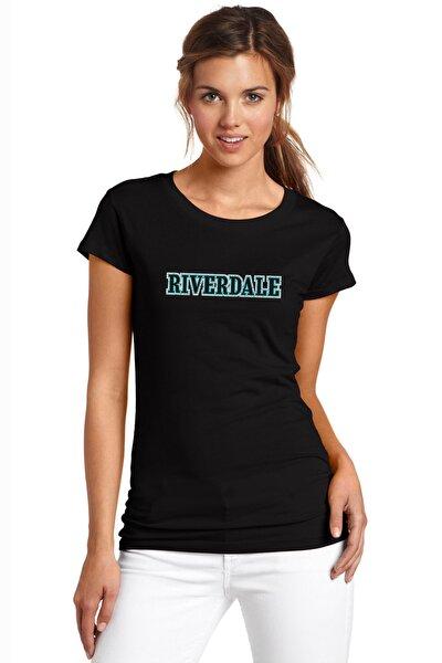 Riverdale Logo Baskılı Siyah Kadın Örme Tshirt T-shirt Tişört T Shirt