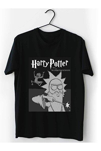 Rick And Morty Harry Potter Tişört %100 Pamuk