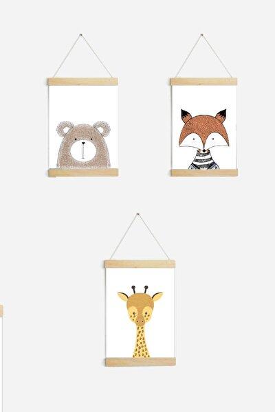 Çocuk Ve Bebek Odası 3'lü Poster Tablo Seti