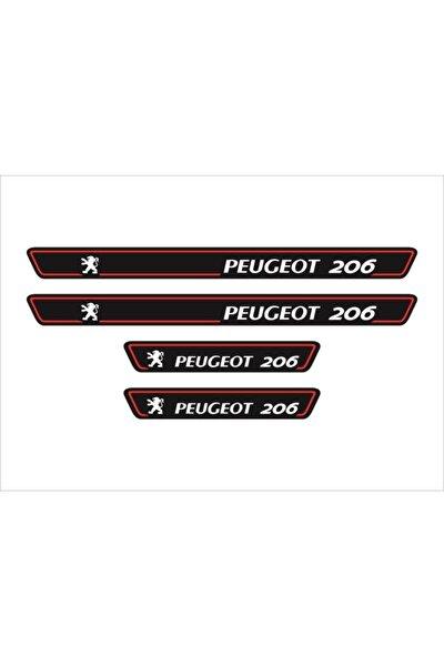 Peugeot 206 Logolu 4'lü Kapı Eşiği Oto Aksesuar