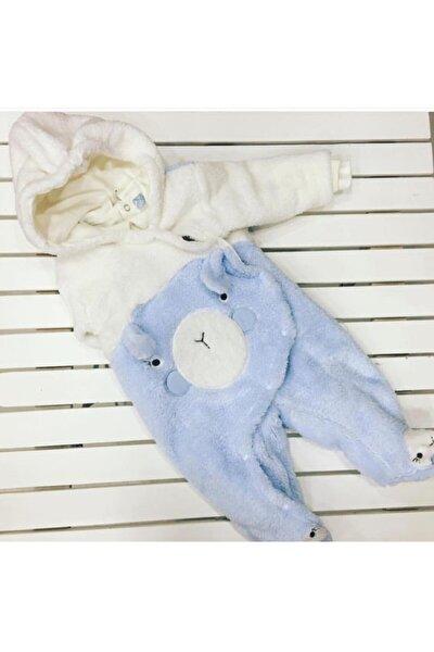 Unisex Mavi Bebek Tulumu