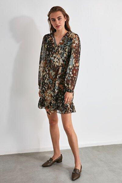 Çok Renkli Kuşaklı Elbise TWOAW20EL1794