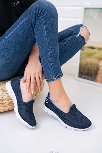Lacivert Fileli Memory Foam Ayakkabı